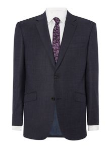 Single Breasted Navy Semi Plain Suit