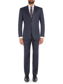 Simon Carter Single Breasted Navy Semi Plain Suit
