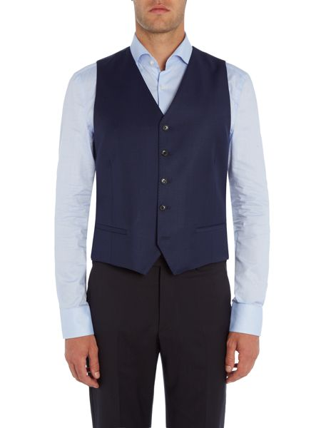 Simon Carter Regular Sharkskin Waistcoat