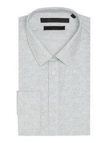 Kenneth Cole Jose Mini Bird Print Shirt