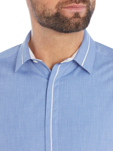 Kenneth Cole Brake Insert Collar and Placket Shirt