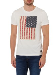 Jack & Jones American Flag Print Crew Neck T-shirt
