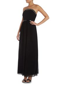 Little Mistress Bandeau Embellished Top Maxi Dress