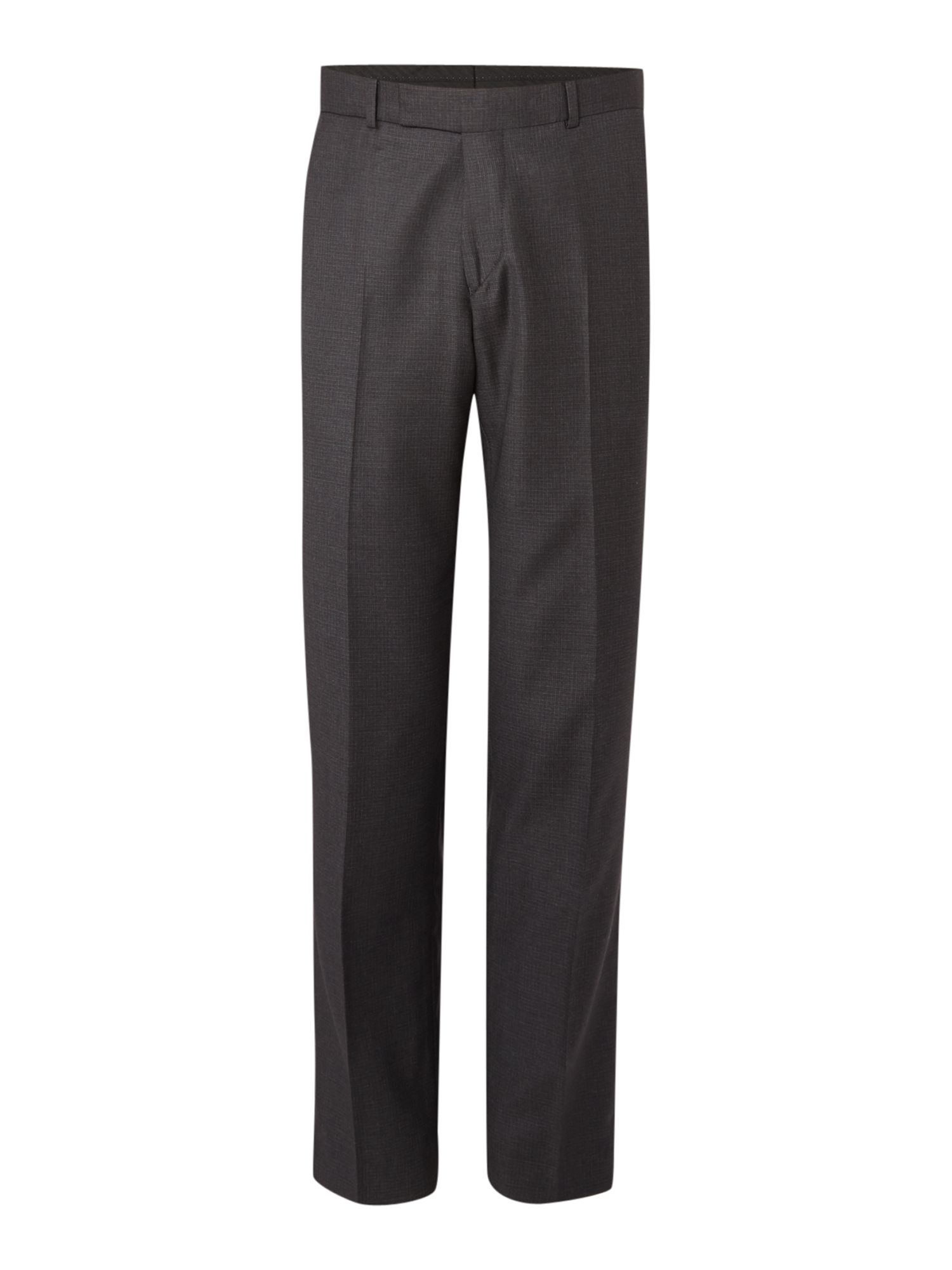 Men's Simon Carter Regular Semi Plain Squares Trousers, Grey