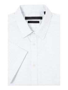 Kenneth Cole Aron Spot Print Short Sleeve Shirt