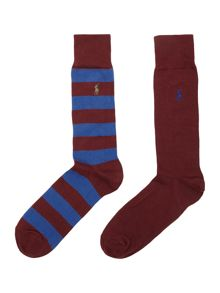 Ralph lauren rugby stripe and plain socks