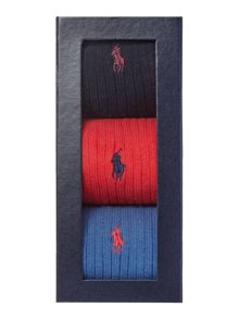 Ralph lauren ribbed sock giftbox