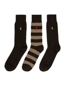 Polo Ralph Lauren Ralph lauren stripe rugby sock giftbox