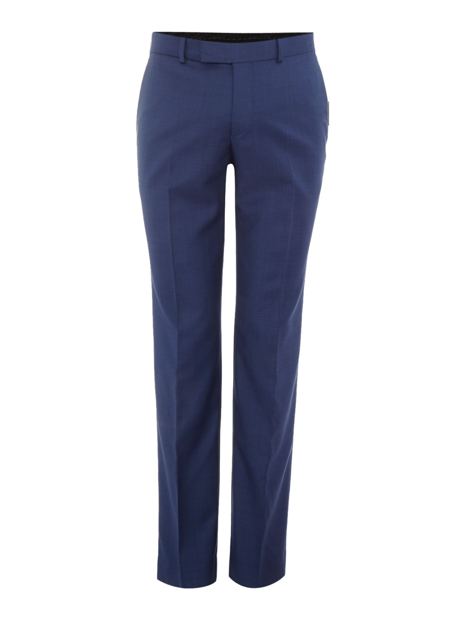 Men's Simon Carter Slim Sharkskin Peak Trousers, Navy