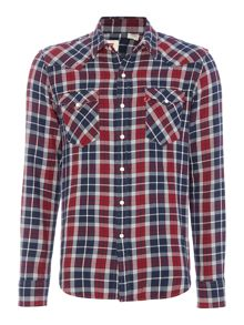 Ragular fit classic western plaid shirt