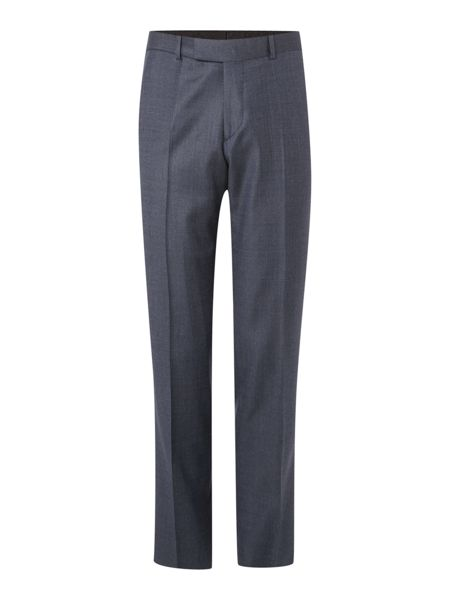 Simon Carter Navy Semi Plain Trousers