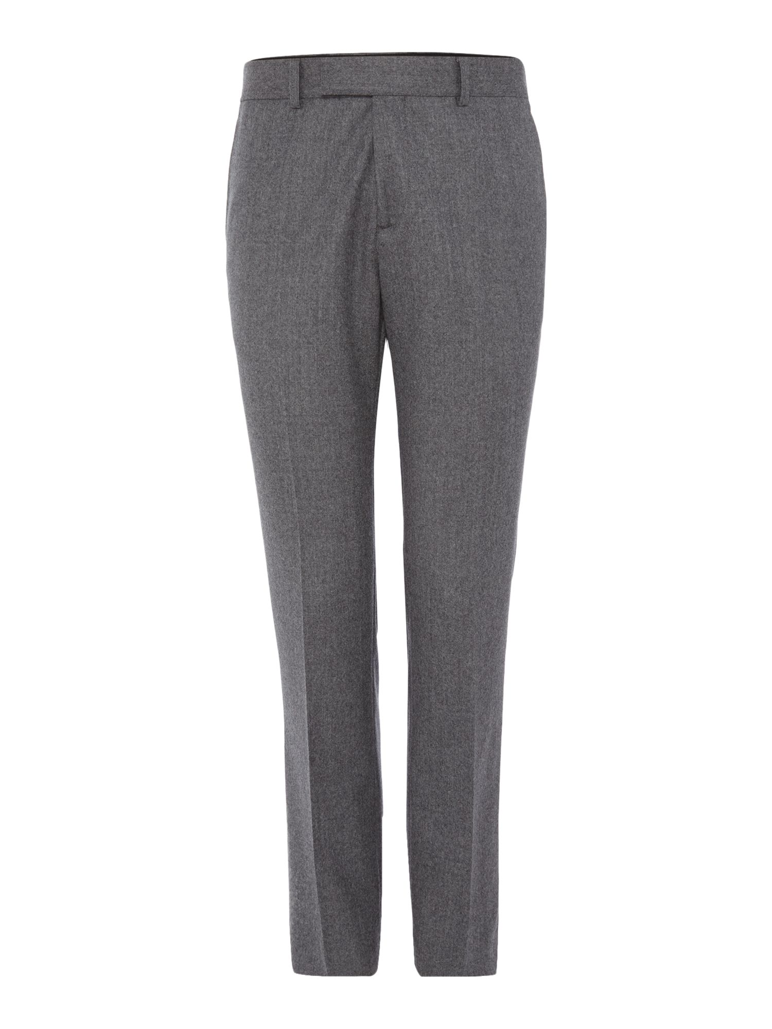 Men's Simon Carter Flannel Trousers, Light Grey