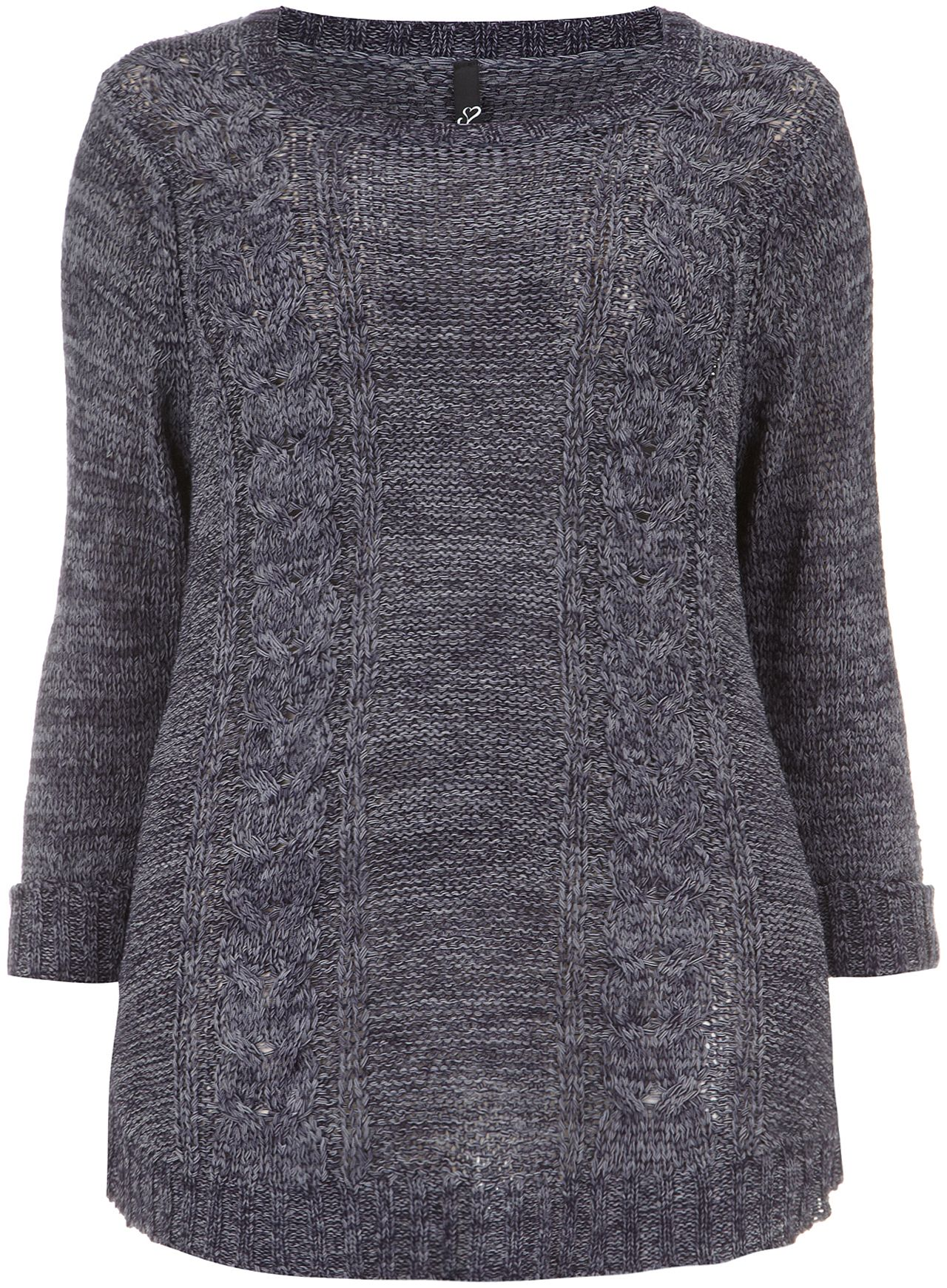 Denim two tone jumper