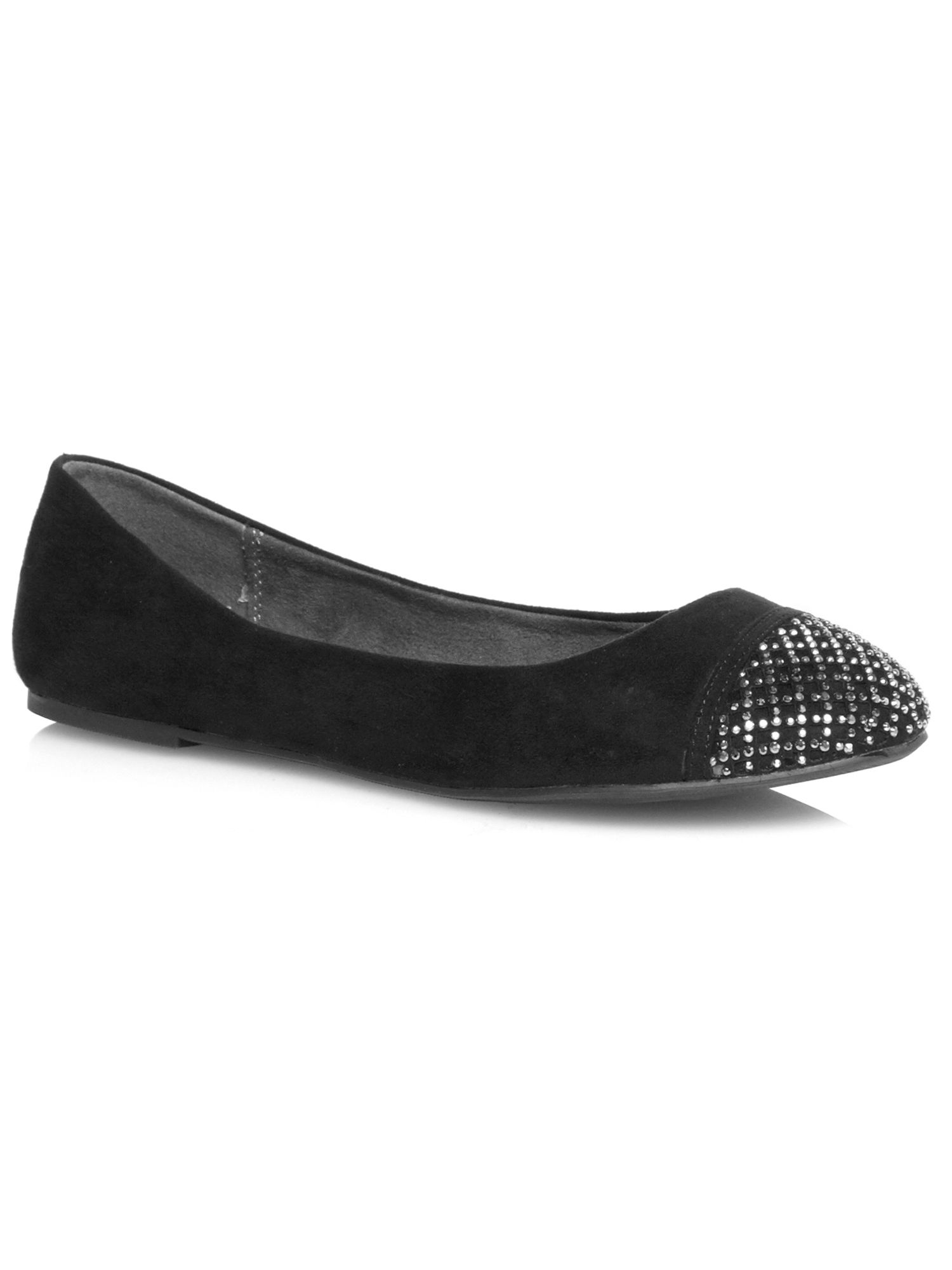Black beaded toe pump