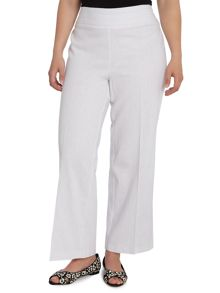 White linen blend trousers