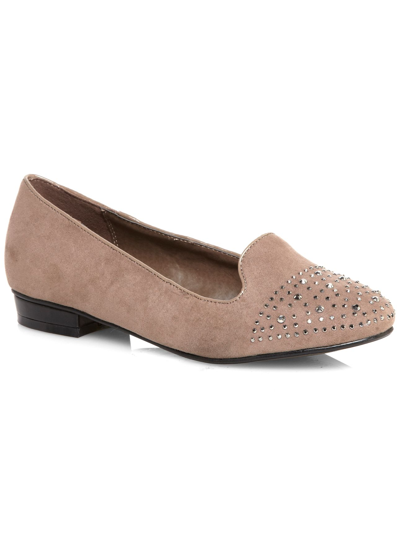 Mink Jewel Toe Slipper Pump