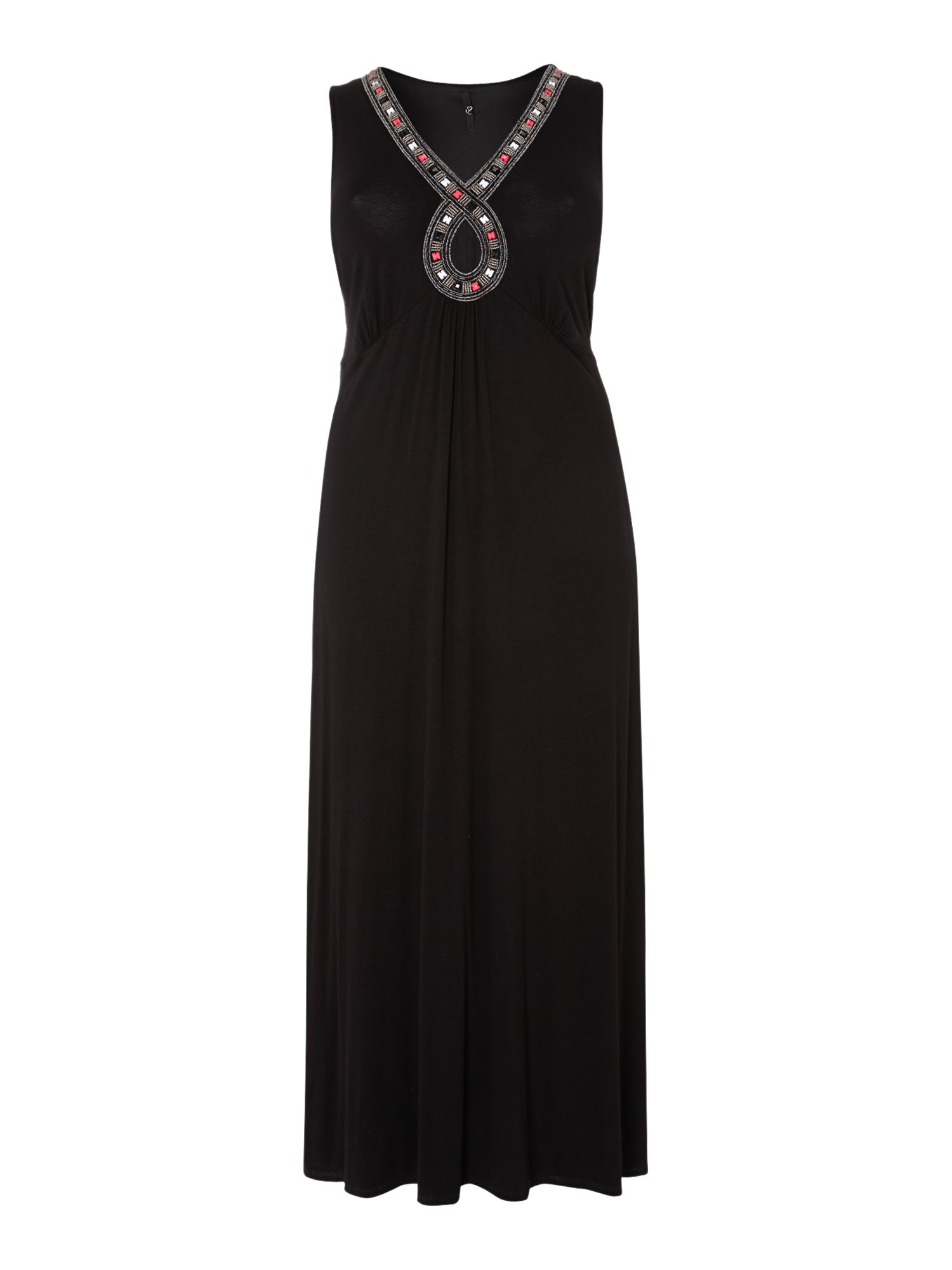 Black figure of 8 maxi dress