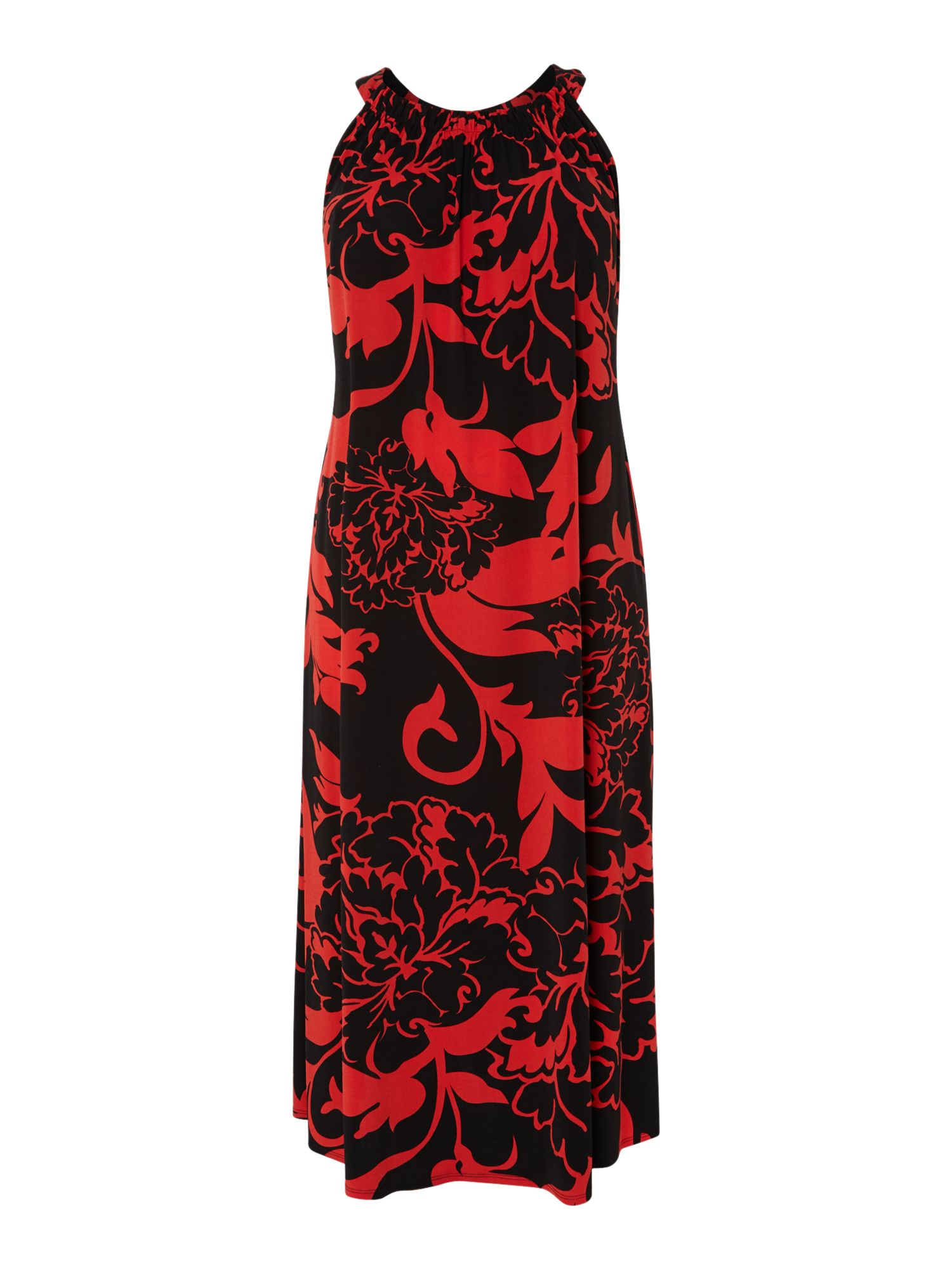 Shadow print maxi dress