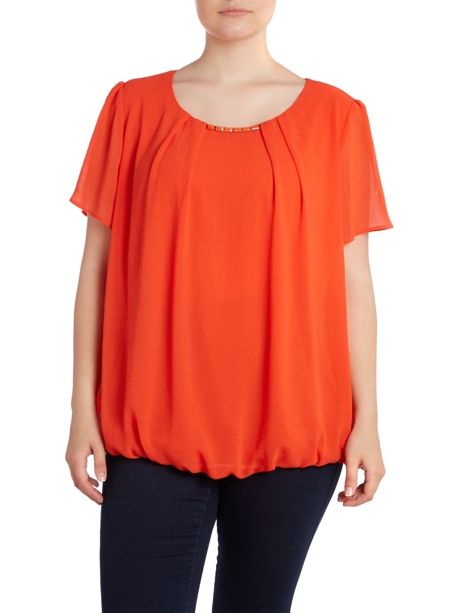 Orange enamel trim bubble top