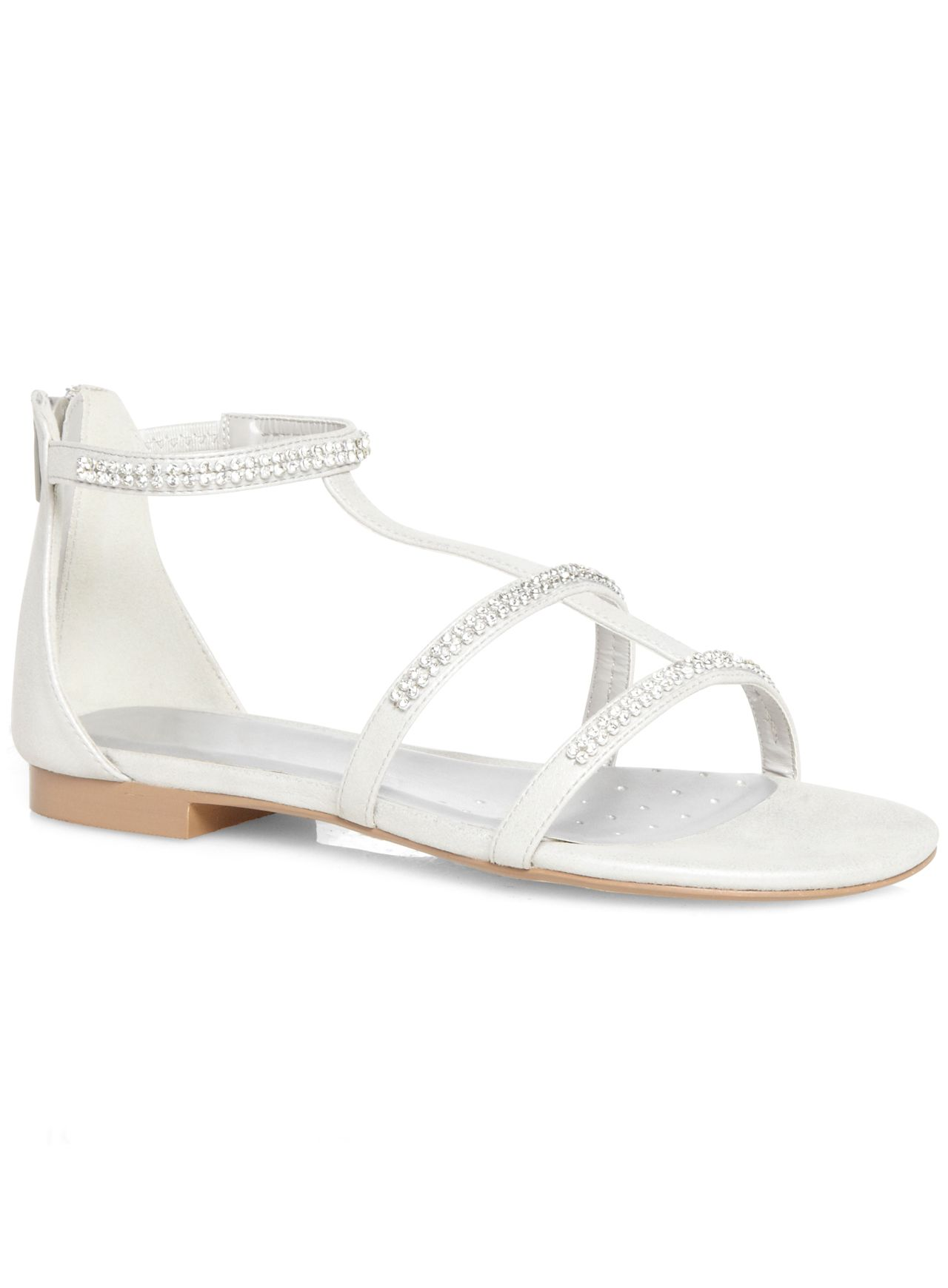 Silver Diamante H-Bar Sandal