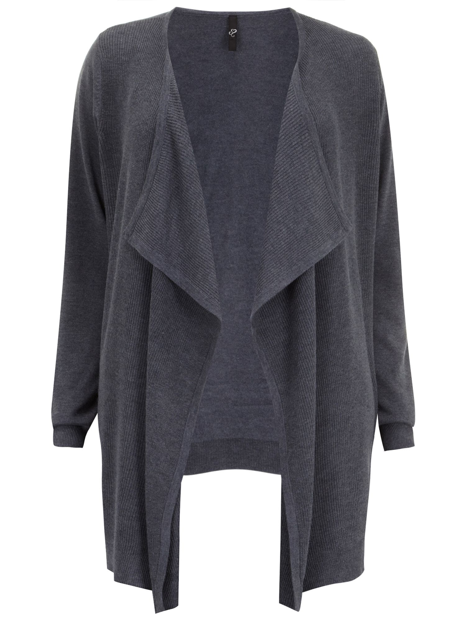 Grey waterfall cardigan