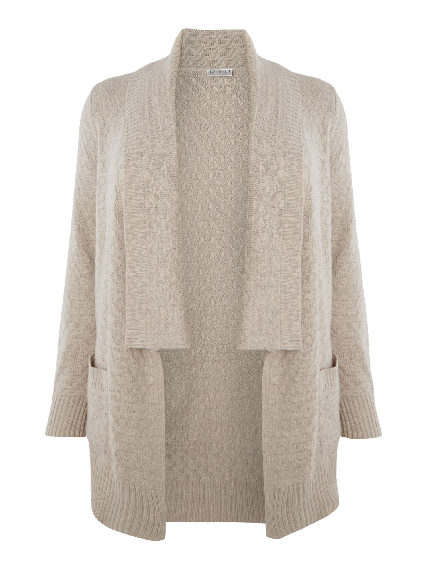 Neutral stitch waterfall cardigan