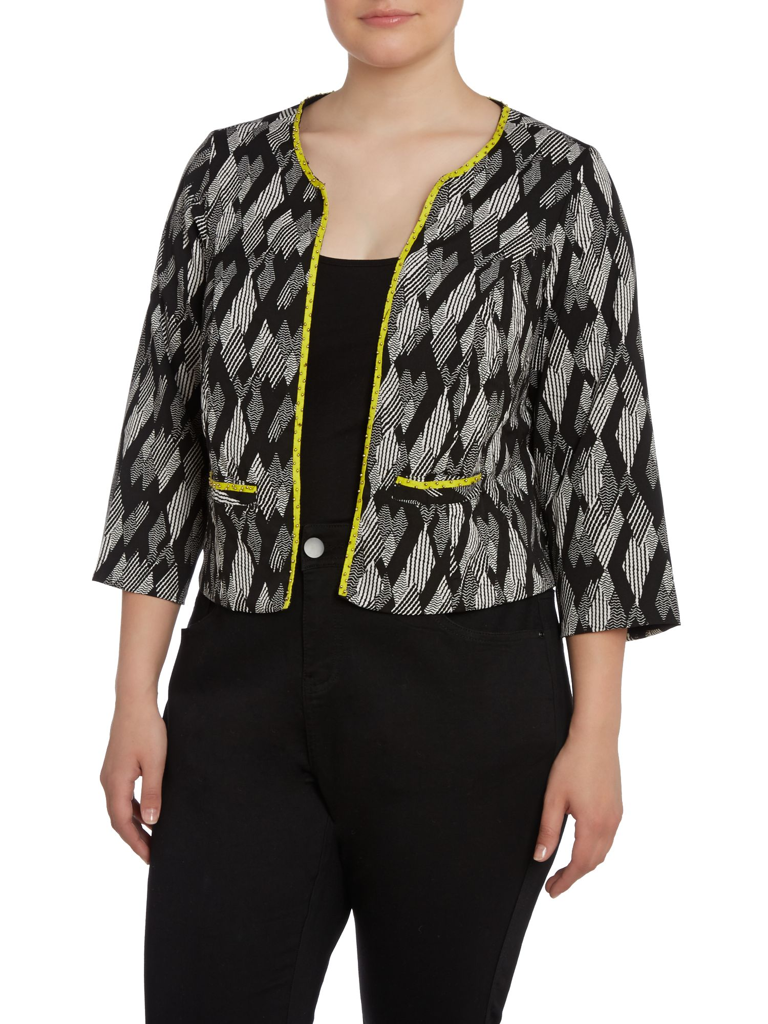 Black and white print jacket