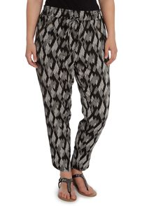 Black and white printed trouser