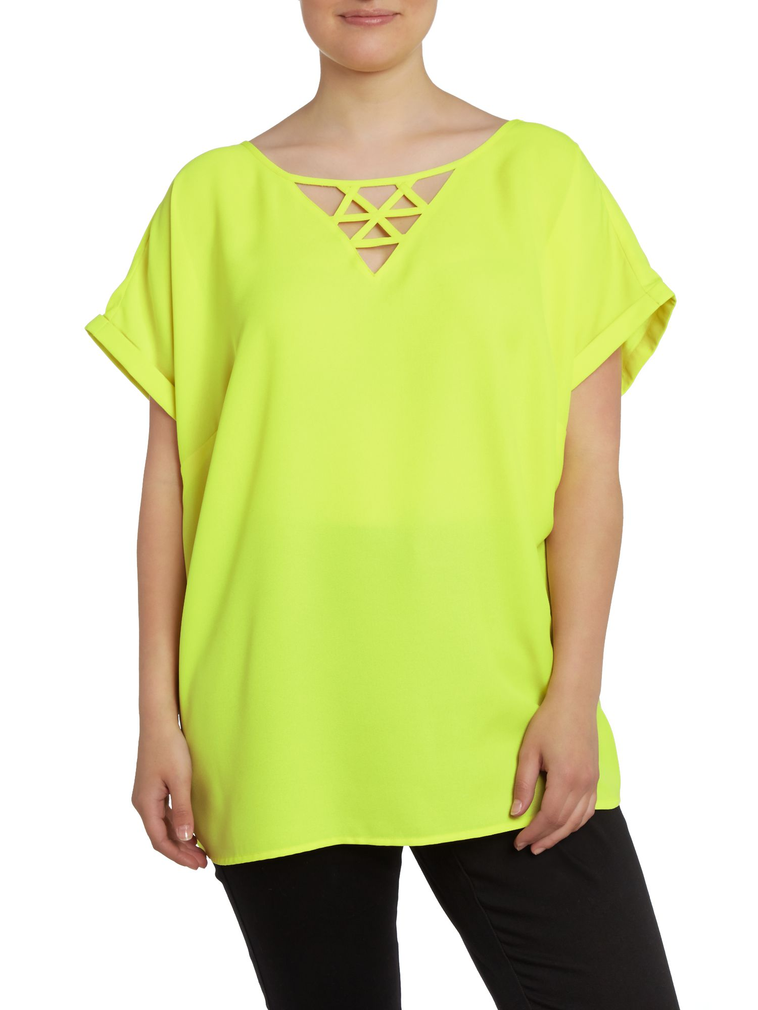 Yellow cutwork top