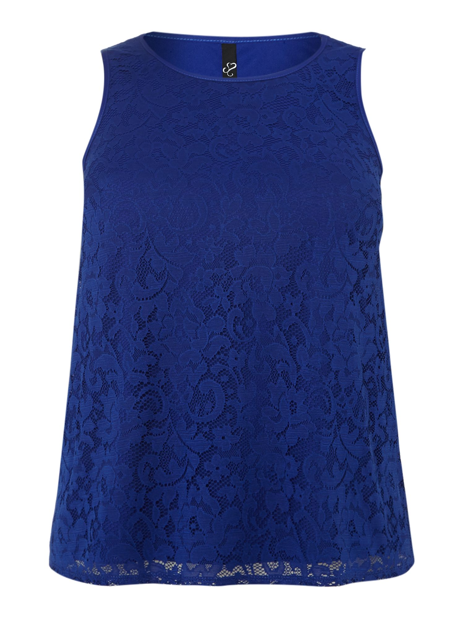 Cobalt Lace Shell Top