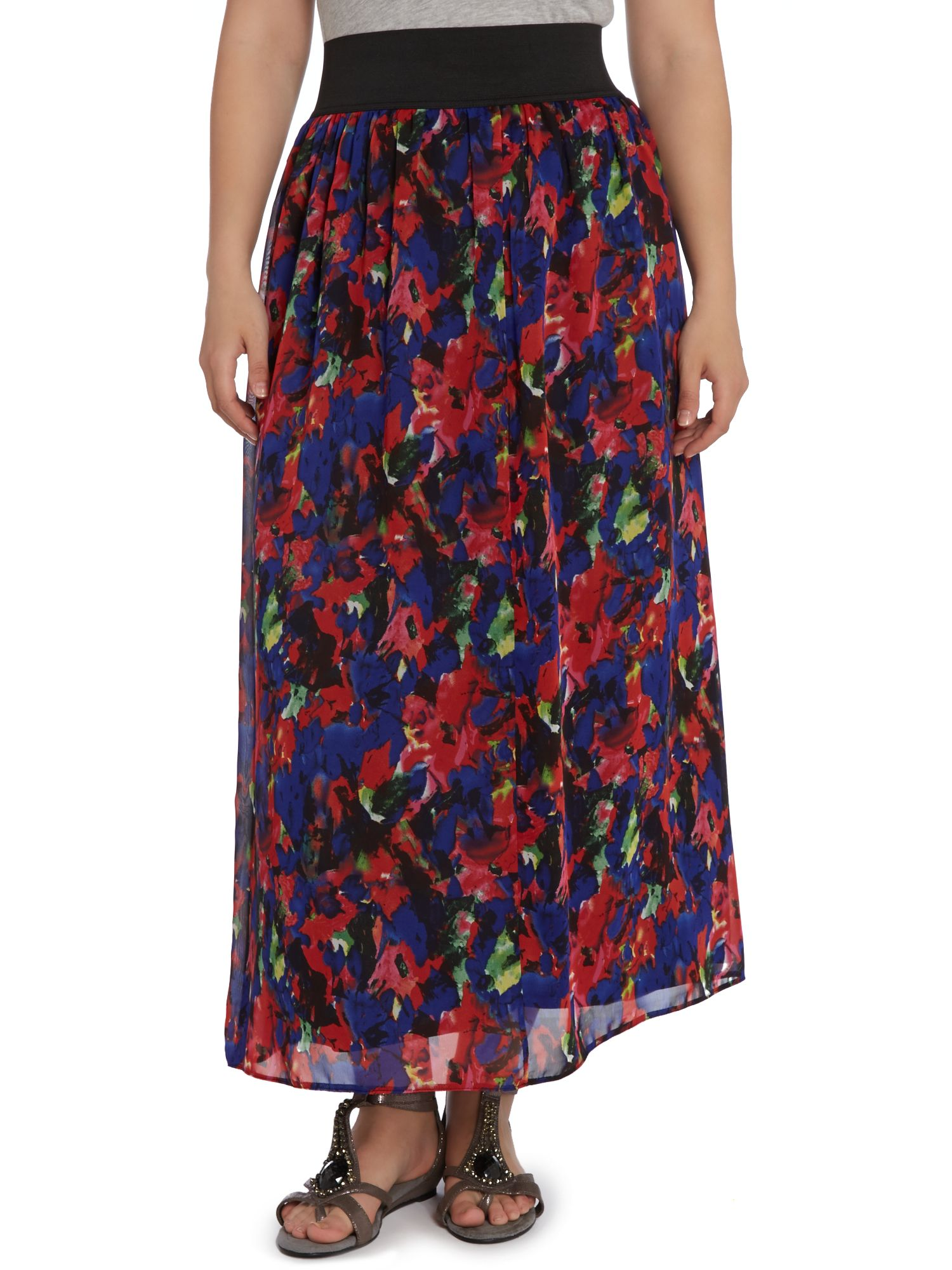 Bright multi coloured maxi skirt