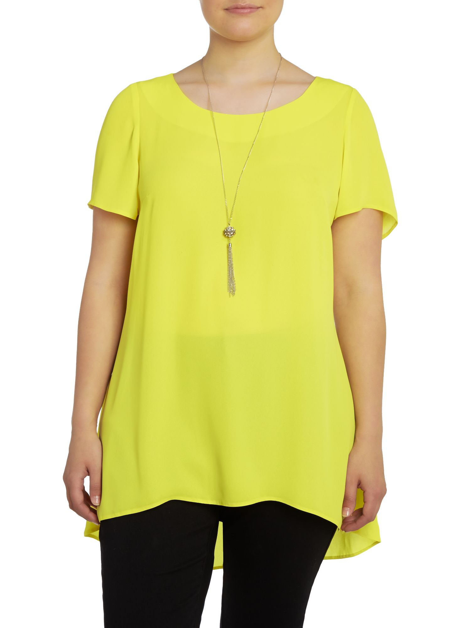 Hi lo hem necklace top
