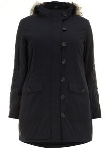 Navy parka coat