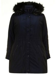 Navy Two Tone Parka