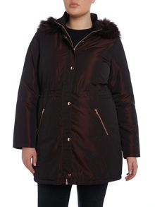 Red Two Tone Parka