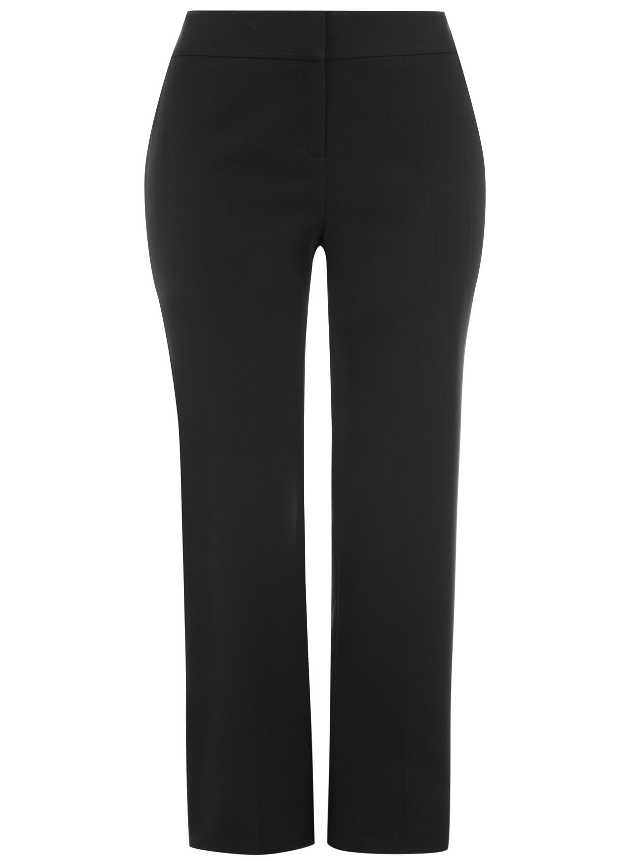 Black Straight Leg Trousers
