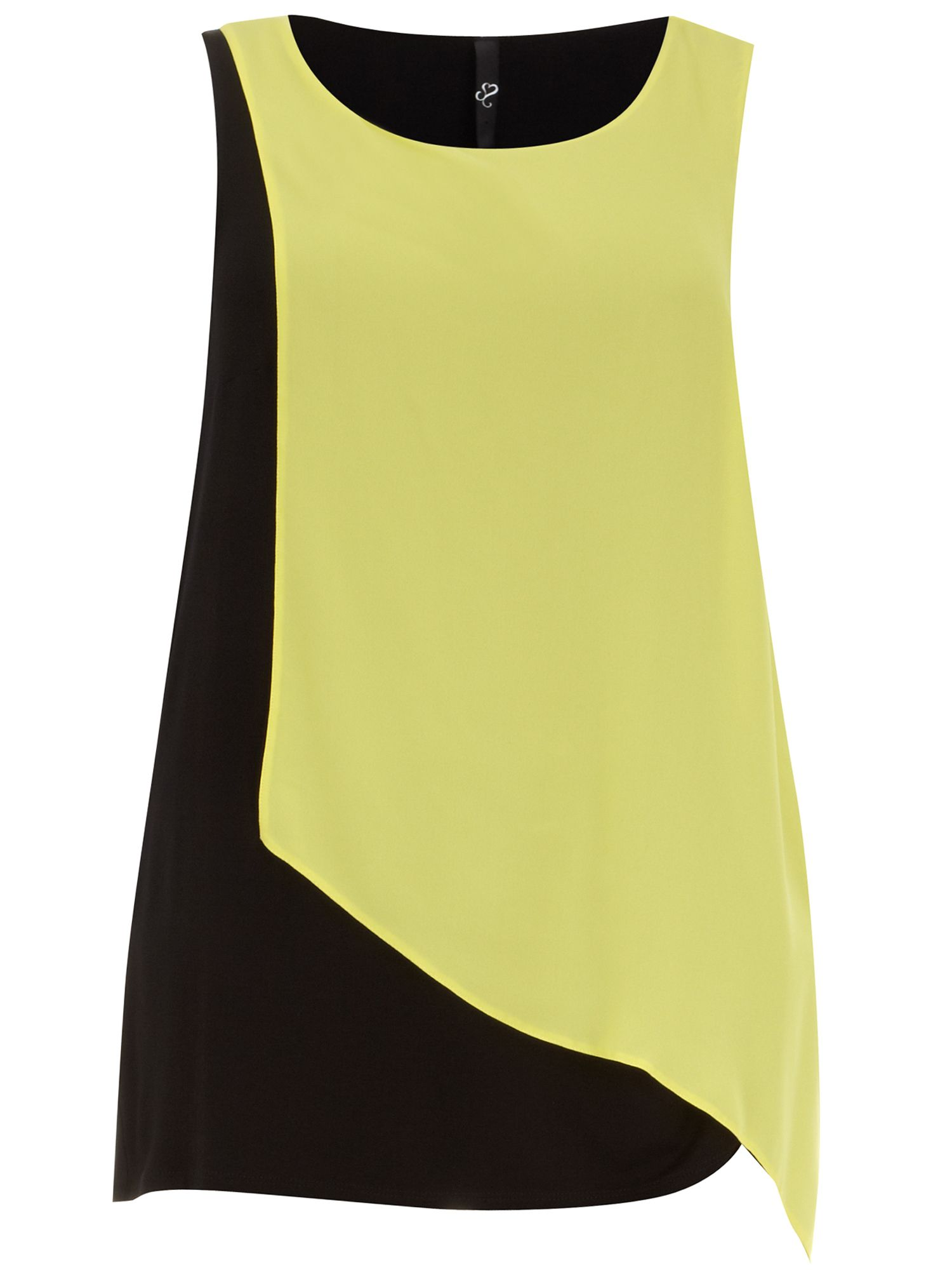 Sleeveless overlay top