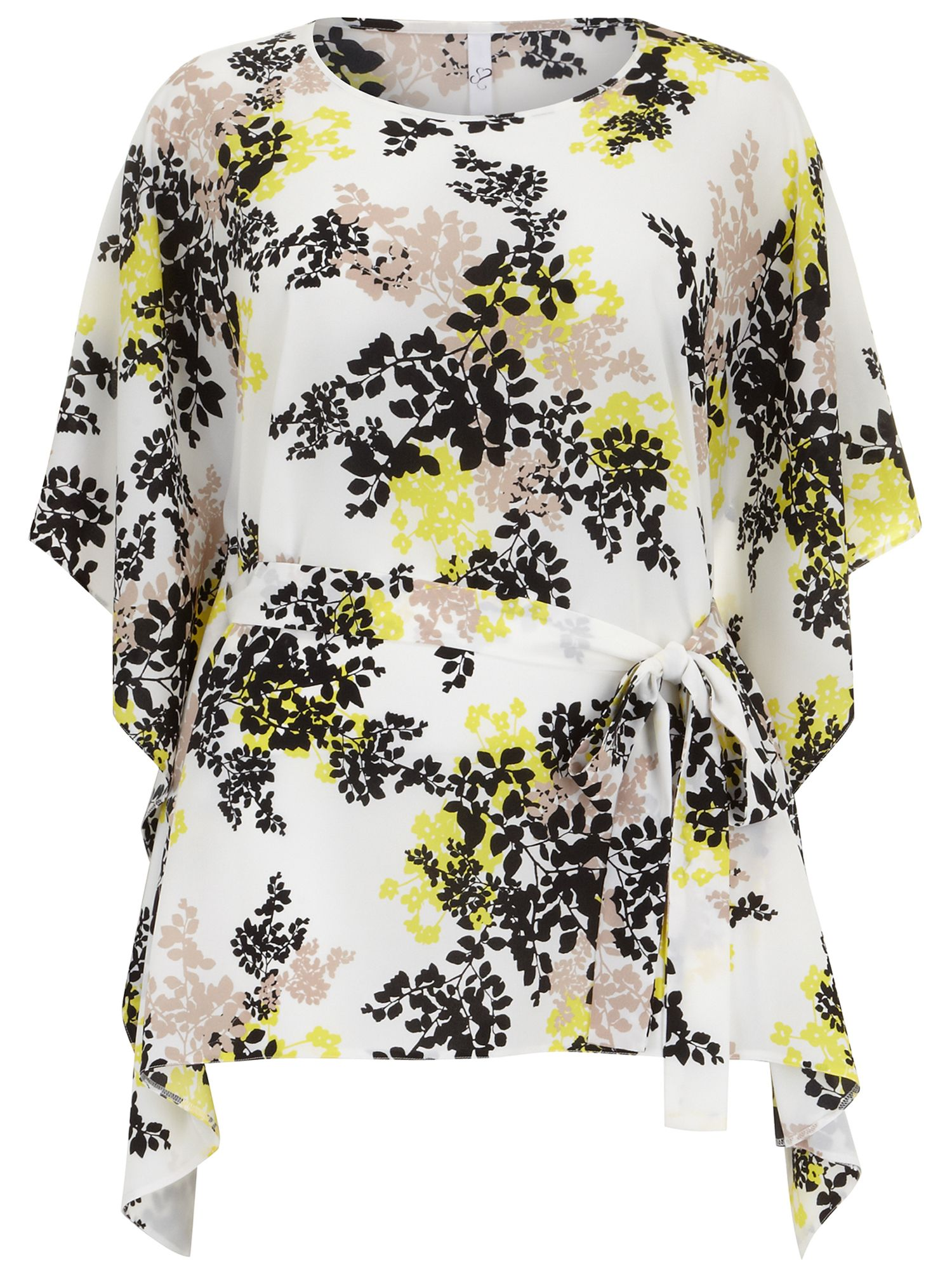 Floral crepe square top