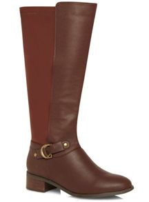 Metal Trim Riding Boots