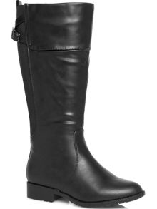 Black fold over riding boots