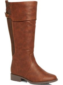 Brown fold over riding boots