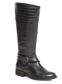 Black Leather Riding Boot