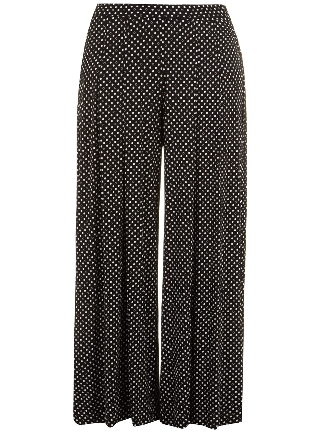 Black and white wide leg trouser