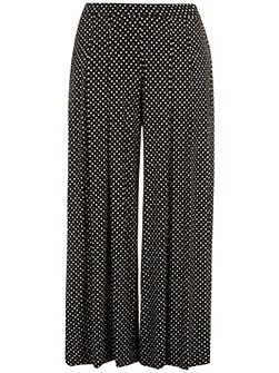 Plus Size Black and white wide leg trouser