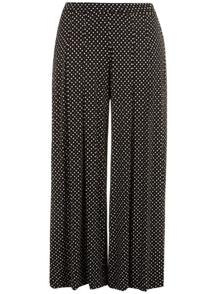 Evans Plus Size Black and white wide leg trouser