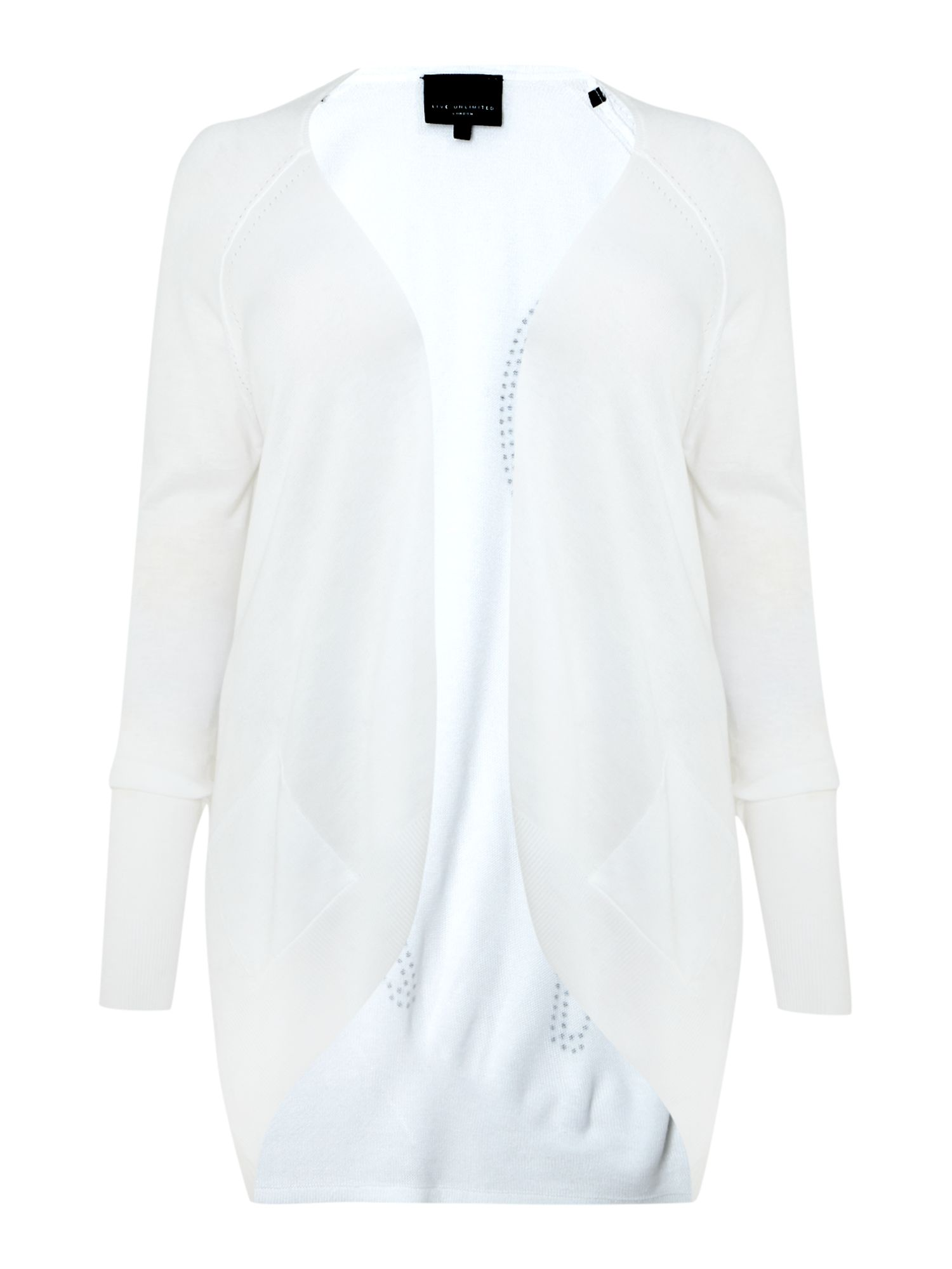 Live Unlimited for Evans white cardigan