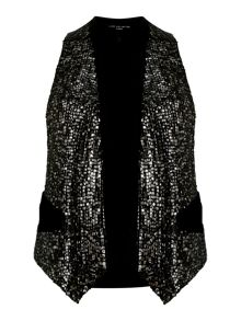 Live Unlimited for Evans sequin waistcoat
