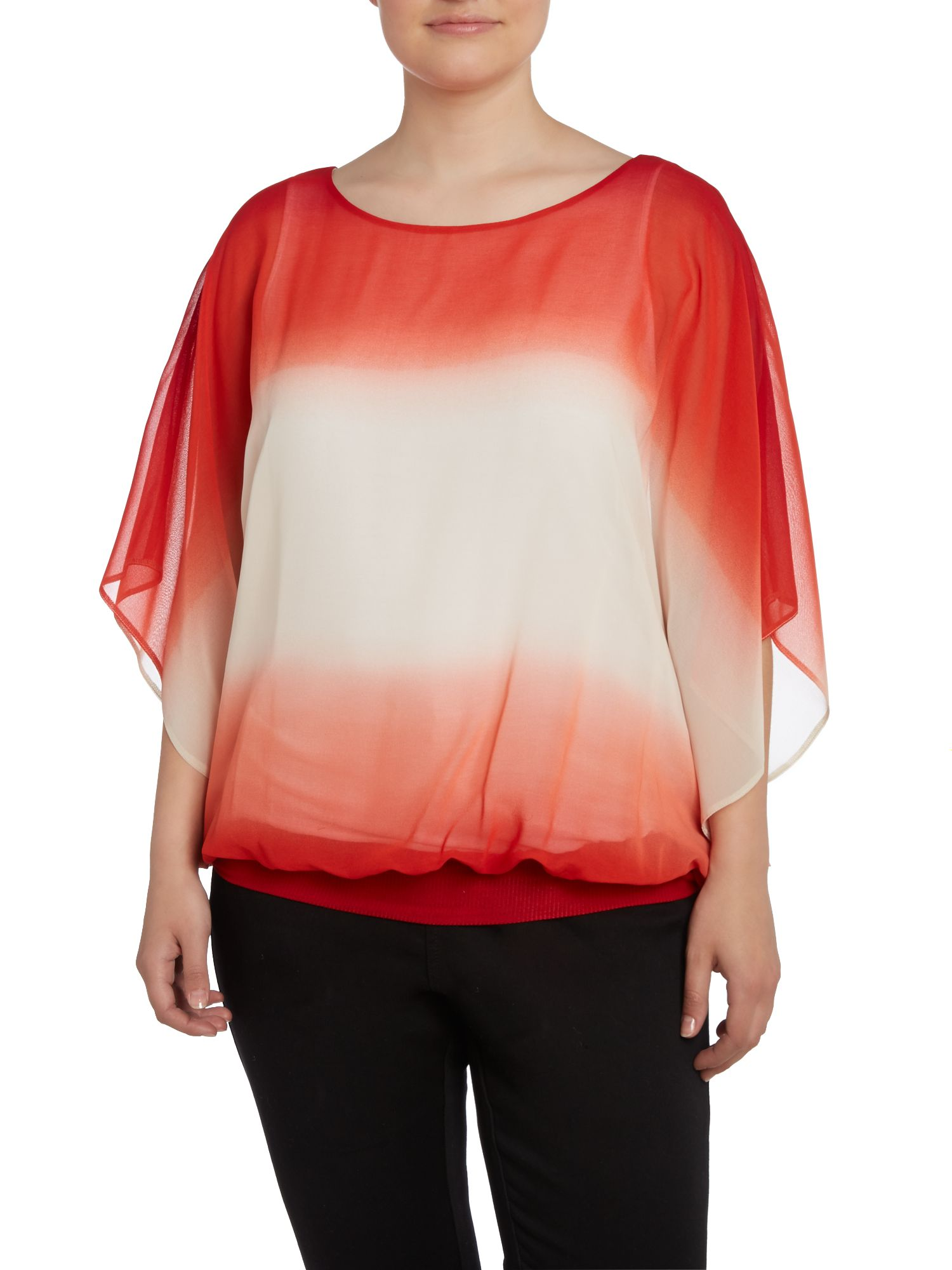 Live Unlimited for Evans ombre print top