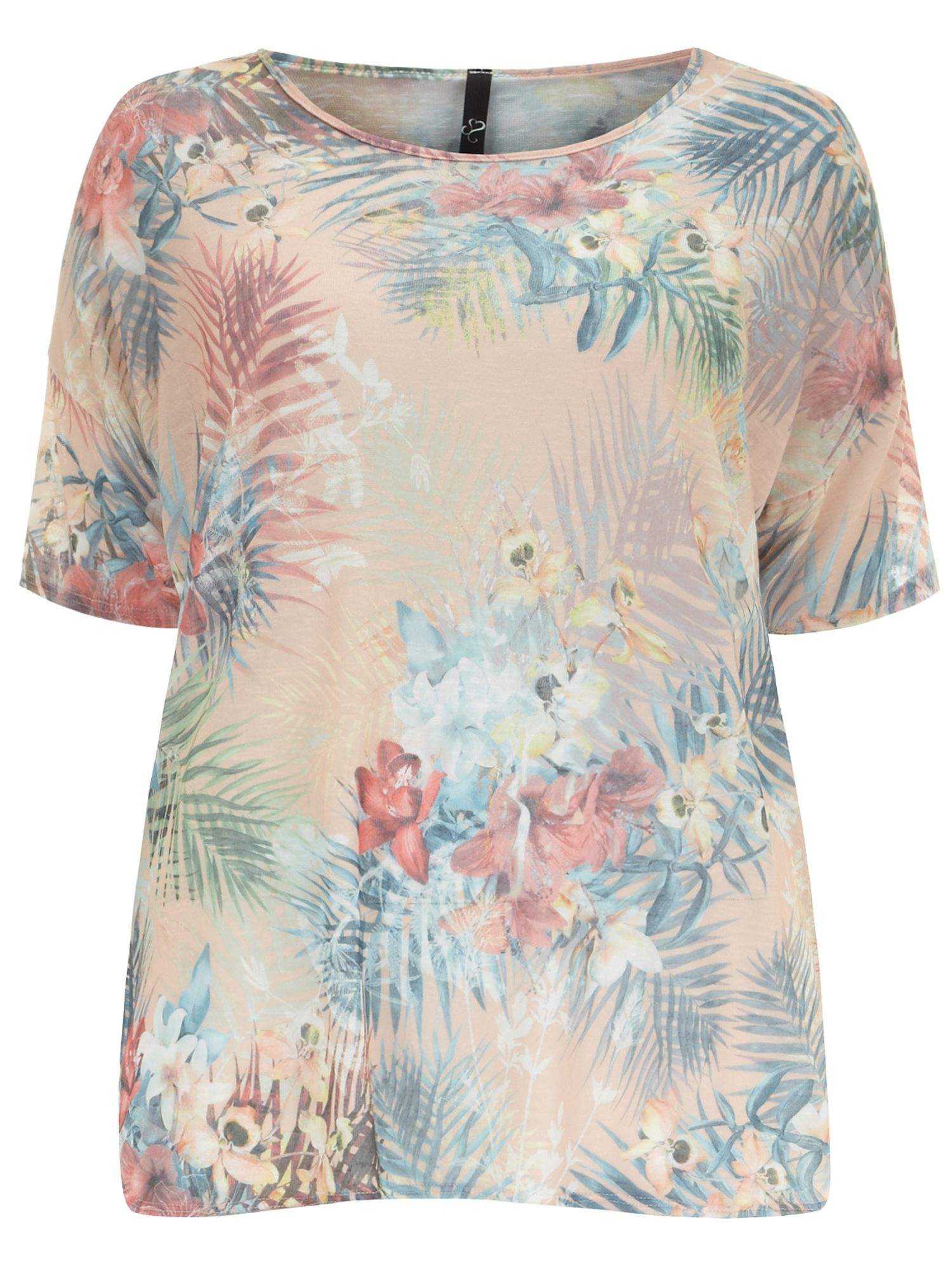 Palm print snit top