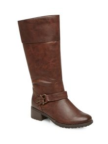 Brown metal trim riding boots